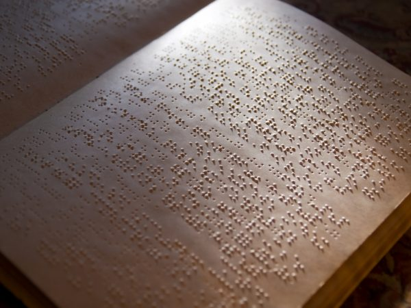 Photo of Braille book